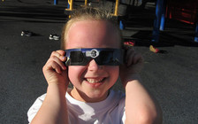 Washingtonians should check for the ISO certified seal of approval when looking for solar eclipse-viewing glasses. (Ken Lund/Flickr)