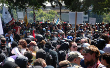 Patriot Prayer and Proud Boy rallies in Portland have turned violent on several occasions. (Old White Truck/Flickr)