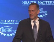 Shatterproof founder and chief executive Gary Mendell addresses the Clinton Foundation, sharing his personal story of losing his son to addiction. (Shatterproof)