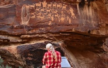 Ancient petroglyphs line more than 40 miles of rock wall faces along southern Utah's Nine Mile Canyon, which has been called the