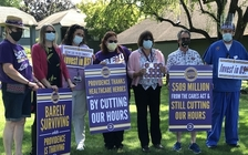 Workers at Providence Milwaukie Hospital have rallied for better wages. (SEIU local 49)