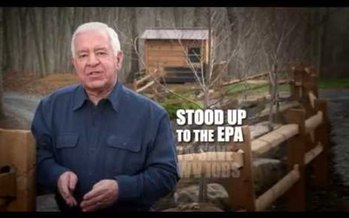 GRAPHIC: The campaign ads already are running in West Virginia's 3rd congressional district, many paid for by a network of groups started by the oil and chemical billionaire Koch brothers. What do the Kochs want? Screengrab from an ad by Nick Rahall for Congress.