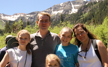 PHOTO: Senator Michael Bennet hiked the Ophir Valley area with his three daughters and wife. Photo courtesy Trust for Public Land