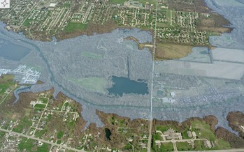 PHOTO: The Hoosier Environmental Council says the reservoir that would be created by damming the West Fork White River would harm the environment and Indiana's recreation and tourism. Photo courtesy moundslake.org.