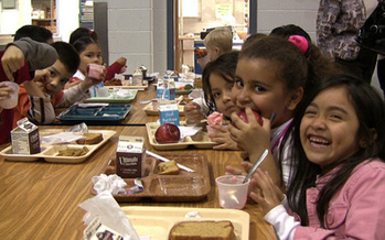 PHOTO: Children often count on meals served at school to give them the nutrition they need. But when school isn't in session during the summer, it can be a challenge for some kids to get nutritious, regular meals, particularly those from low-income households. Photo credit: USDA.