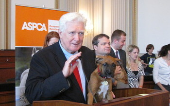 PHOTO Rep. Jim Moran is co-chair of the Animal Welfare Caucus, and says the testing of cosmetics on animals is no longer needed. Photo courtesy of Rep. Jim Moran.