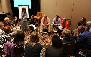 PHOTO: Medical professionals gather at the Colorado Health Symposium, where members of the public are invited to participate online this week. Photo courtesy Colorado Health Foundation