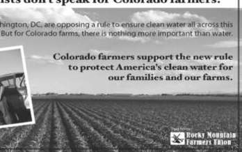 GRAPHIC: The Rocky Mountain Farmers Union is running a campaign to speak out in support of a proposed clarification of EPA water rules under the Clean Water Act. Photo courtesy of the Rocky Mountain Farmers Union.