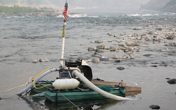 PHOTO: The Idaho Land Board is considering a permit to allow commercial suction dredging for gold on the Salmon River, even though the EPA says the area is off limits. Photo credit: Jonathan Oppenheimer