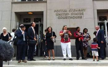 PHOTO: Two lawsuits from Ohio were among six same-sex marriage cases heard before the Sixth Circuit Court of Appeals in Cincinnati on Wednesday. Photo credit: WMMO.