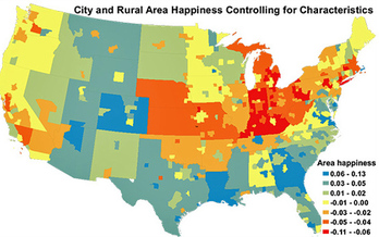 GRAPHIC: How happy are you, and how much does that matter to you? New research ranks three Indiana cities among the