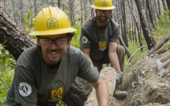 PHOTO: Two trail-clearing and maintenance projects are scheduled in the Selway Bitterroot Wilderness this fall, as part of the 50th anniversary celebration of the Wilderness Act. Photo credit: Kyle Martens, Montana Conservation Corps