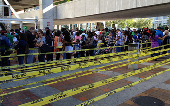 Photo: Florida is one of three states cited in a new report on Election Day lines and significant waits at polling places. According to the report, Latino and African-American are especially affected. Photo credit: Institute for Southern Studies.
