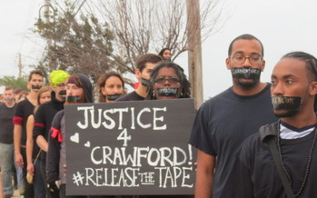 PHOTO: As a Greene County grand jury convenes in the police shooting death of James Crawford, hundreds of family supporters will begin an 11 mile journey demanding justice in the case. Photo credit: Eartha Terrell, Ohio Student Association.