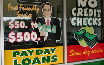 PHOTO: The Better Business Bureau of Minnesota is warning consumers about payday lenders, saying it�s important to research them thoroughly before agreeing to any loan. Photo credit: Taber Andrew Bain/Flickr.