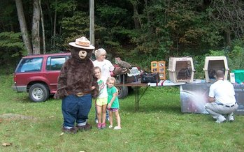 PHOTO: Although Genesis Wildlife Sanctuary was forced to close its Beech Mountain facility, it has continued to host educational programs, participating in events such as this one at Grandfather State Park. Photo courtesy Genesis Wildlife Sanctuary.