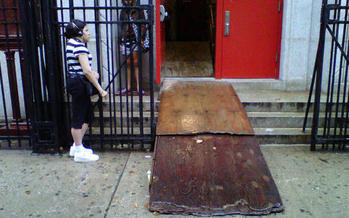 PHOTO: Faulty ramps to emergency shelters should become things of the past when the next disaster strikes New York City, thanks to a settlement agreement delivered to a federal judge in New York. Photo courtesy CIDNY.