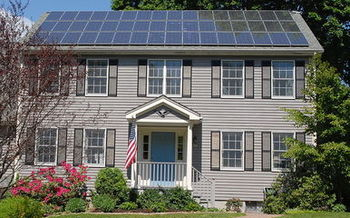 PHOTO: Dozens of Illinois homes and small businesses powered by the sun are opening their doors to the public to share their experience with solar power. Photo credit: Gray Watson/wikimedia.