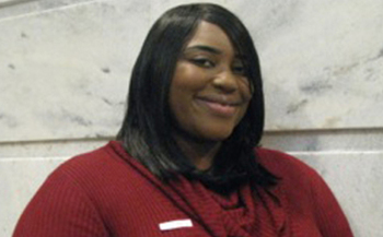 PHOTO: Shreevia Brown is one of hundreds of students taking advantage of a new effort to bring more financial and domestic-violence support services to community college students across Kentucky. Photo courtesy Michele Fiore.