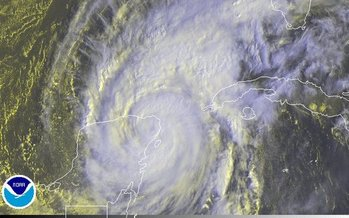 PHOTO: Hurricane Wilma, the last significant hurricane to hit Florida's coast, struck in October 2005. Image courtesy: NOAA