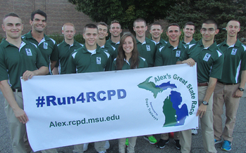 PHOTO: ROTC candidates from MSU and U-of-M will join ultra marathoner Michael Richmond for Alex's Great State Race, a tribute to Alex Powell and all students with disabilities who want to make their college dreams come true. Photo credit: J. Powell.