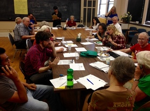 PHOTO: Over the phone and in person, volunteers are reaching out to Latino voters in Illinois this weekend and encouraging them to get to the polls on Nov. 4. Photo credit: Don Carlson.