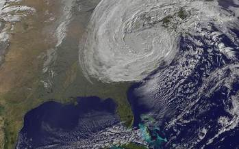 PHOTO: As New York approaches the second anniversary of Superstorm Sandy, a new report says Mother Nature provides some of the best defenses from increased threats of storms and flooding. Photo credit: National Aeronautics and Space Administration.