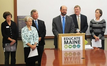 PHOTO: Educate Maine, a group of business leaders, has issued its annual report of 10 indicators it believes best measure Maine�s educational performance -- and 10 goals for 5 years from now. Photo courtesy of Educate Maine.