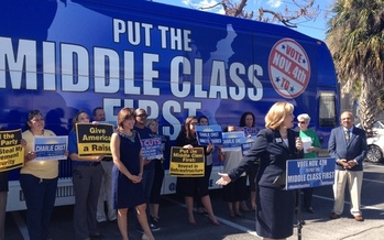 PHOTO: A series of events called Put the Middle Class First is coming to West Virginia this week. Photos of a past rally courtesy of Put the Middle Class First.