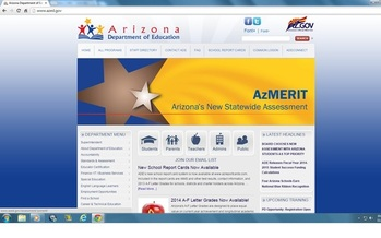 PHOTO: Arizona's new standardized test for public school students won't change much if the state does not restore K-12 funding to pre-recession levels, according to Andrew Morrill with the Arizona Education Association. Screenshot is from the Arizona Department of Education website.