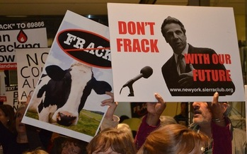 PHOTO: Environmental advocates are sending congratulations to Gov. Andrew Cuomo, but also are demanding he take action to make good on a campaign promise concerning science and fracking. Credit: T. Proulx.