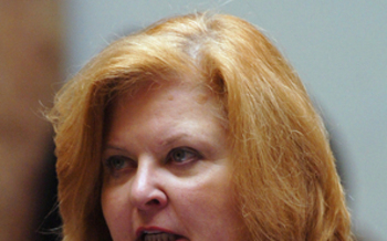 PHOTO: State Rep. Joni Jenkins is urging lawmakers to pass a bill to enable victims of domestic violence, stalking or assault to break their rental lease. Photo courtesy LRC Public Information.