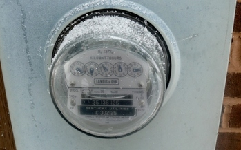 PHOTO: A mid-November dusting of snow on this electric meter is a reminder of the heating bills ahead. Applications are now being accepted for a one-time subsidy from the Low-Income Home Energy Assistance Program. Photo by Greg Stotelmyer.