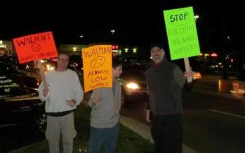 PHOTO: Black Friday protests in Indianapolis, Kokomo, North Vernon and South Bend are among the more than 2,200 planned at Walmart stores in almost every state. Photo courtesy of Central Indiana Jobs with Justice.