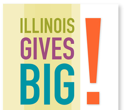 GRAPHIC: As part of #GivingTuesday, the #ILGIVEBIG initiative is aimed at raising $12 million for Illinois nonprofit organizations in one day. Graphic courtesy of the Donor Forum.