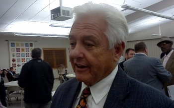 PHOTO: West Virginia Commissioner of Agriculture Walt Helmick says a small program at the agency is helping veterans become beekeepers on old surface mine land. Photo by Dan Heyman.