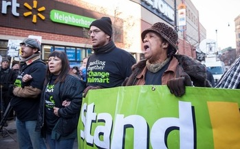 PHOTO: Activists around Illinois will join Black Friday protests nationwide, calling for Walmart to pay a fairer wage to its workers. Photo courtesy of Interfaith Worker Justice.