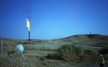 PHOTO: A new report finds the amount of gas drilled on federal leases in North Dakota that's royalty-free, consumed or flared by operators, is equal to more than 40 percent of the total volume sold. Photo credit: Merlin/Flickr.