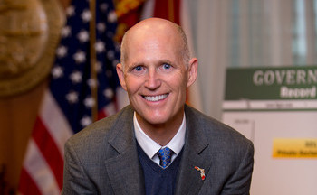 PHOTO: Florida might already have surpassed New York as the third most populous state in the nation, but Gov. Rick Scott's inaugural message invited others to