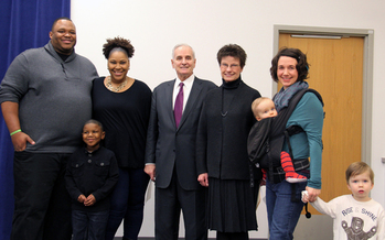 PHOTO: Gov. Mark Dayton has proposed a $100 million expansion of the Child and Dependent Care Tax Credit, which would increase the number of eligible families from 38,000 to 130,000. Photo courtesy Gov. Dayton's office.