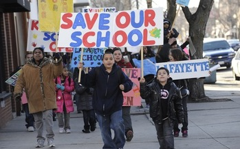 PHOTO: Focusing on the fallout from Chicago's 2013 school closings, a new documentary series is opening a dialogue about public education and equity in Illinois. Photo credit: Bill Healy.