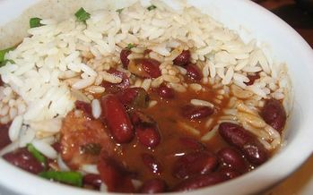 Arkansas legislators are being served a lunch of red beans and rice for