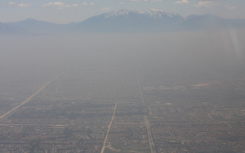 PHOTO: Ground-level ozone, or smog, hoovers over Ontario, California. The U.S. Environmental Protection Agency is proposing stricter limits on smog. Photo courtesy of National Oceanic and Atmospheric Administration.