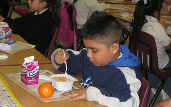 PHOTO: A new report finds more schools in Nevada are participating in the School Breakfast Program, but many students who are eligible are still not benefiting from the federal program. Photo courtesy U.S. Dept. of Agriculture.