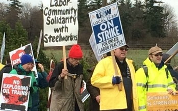 PHOTO: Negotiations are expected to resume Tuesday between oil companies and the union representing striking Workers. About 1,000 workers at the BP Whiting facility have joined thousands of colleagues across the country in calling for safety improvements. Photo courtesy of United Steelworkers.