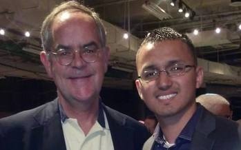 Photo: Cesar Bautista has lived in Tennessee since he was 8 years old and now joins other immigrants in advocating for in-state tuition. (Pictured here with Congressman Jim Cooper who has spoken out in support of immigration reform. (5th District-D). Photo credit: Bautista