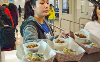 PHOTO: According to the Food Research and Action Center, 213,000 Indiana children ate a free school breakfast last year, less than half of those who participated in the federal School Lunch Program. Photo courtesy of the U.S. Department of Agriculture.
