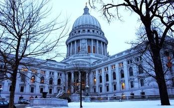 PHOTO: As was the case four years ago during the passage of Act 10, the Wisconsin State Capitol in Madison is expected to be the scene of protests this week as labor interests organize demonstrations opposing fast-tracked