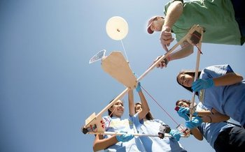 PHOTO: Kids in a Walla Walla after-school program work on a high-altitude weather balloon. This and other enrichment programs are at risk as Congress considers ending dedicated funding for after-school and summer programs, and lets states spend federal education dollars on other priorities. Photo credit: Brent Cummings, FORWARD Space Program.