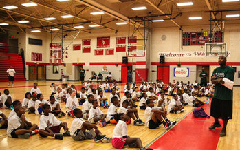 PHOTO: With basketball camps and reading programs across the state, former Spartan and NBA player Mateen Cleaves now devotes himself to helping the next generation of Michigan kids succeed. Photo courtesy of Shawn Dhanak.